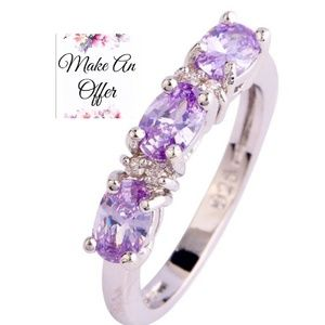 Silver Ring w/ Purple Topaz